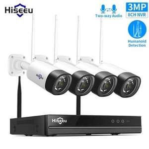 Sistema vigilancia CCTV 8CH 3MP 1536P desde Europa