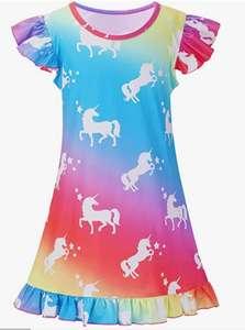 Pijama de unicornios para niñas. Tallas 4-5 y 5-6 años