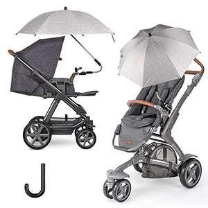 FREESOO Sombrilla Universal Carrito de Bebé para Protección UV50+ Paraguas para Cochecito con Soporte para Tubos Redondos .
