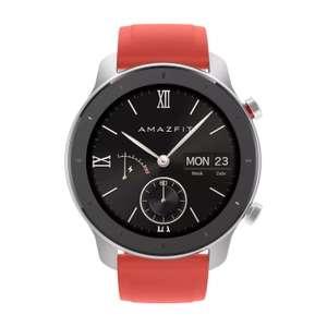 Smartwatch - AmazFit GTR-42MM, 42 mm, Tctil 1.2a AMOLED, 24 das autonoma, GPS, Bluetooth, Rojo