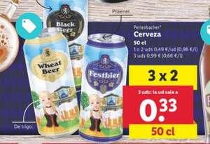 Oferta 3x2 Cerveza Pilsner y otros 2 tipos a solo 0'33€ unidad desde el 11/9