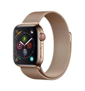 Apple Watch Series 4 (GPS + Cellular), caja acero inoxidable color oro y pulsera mismo tono.