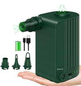 Inflador Electrico con Batería de Litio Recargable USB,de 4000 mAh(3boquillas)