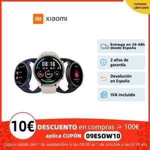 Xiaomi Mi Watch por 68,49 € (16/09 a las 10.00 a.m)