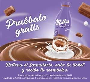 Gratis MilkaShake de 750 ml (Reembolso)