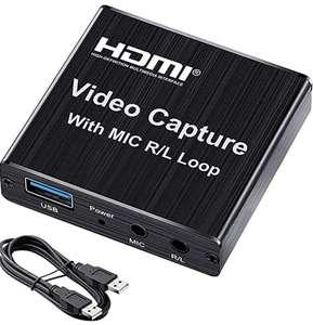 Capturadora de Video 1080P 60FPS, 4K USB 3.0 HDMI