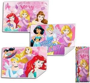 Paquete de 3, Kid Licensing Surtido 3 Diseños Toallitas de Mano Princesas 40X30Cm - la toalla sale a 2.03€