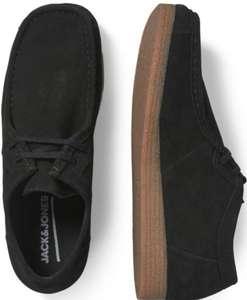 JACK & JONES Zapatos de ante con cordones. Negros (Tallas 40 a 46)