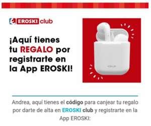 Auriculares bluetooth gratis con eroski club (Solo si te ha llegado el correo)