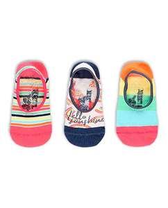 Pack de 3 calcetines de niña fucsia Boboli