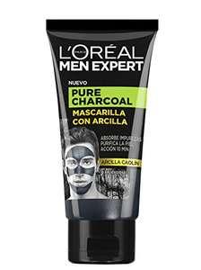 L'Oreal Men Expert - Pure Charcoal, Mascarilla con Arcilla, 6 x 50ml