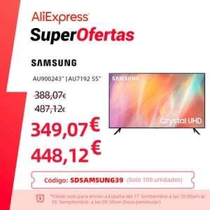 """Samsung-smart TV Cristal UHD 4K 43"""" (El 17/09)"""