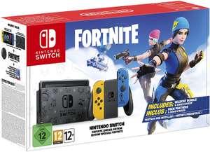 Consola - Nintendo Switch Edición Limitada Fortnite, Portátil, Joy-Con Azul y Amarillo