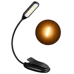 Luz Lectura Recargable con 9 Modos de Luz y 60 Horas de Duración