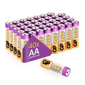 40 Pilas alcalinas GP, AA. Seleccionar vendedor