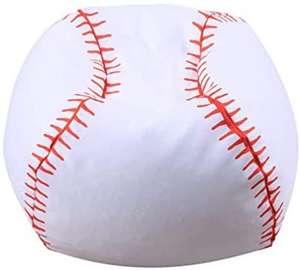 TOYANDONA Puf de peluche con diseño de pelota de béisbol