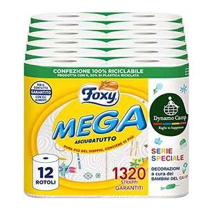 Foxy Mega 12 rollos secador de larga duración