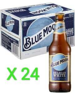 24 x 33cl Blue Moon Cerveza Americana Artesanal Sin Filtrar de Estilo Belgian White (7,92L) a 1,04/ud
