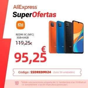 Aliexpress- Xiaomi Redmi 9C NFC 3+64GB desde España
