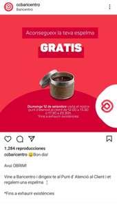 CC Baricentro: vela aromatica gratis, solo hoy