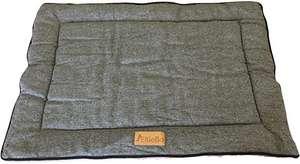 Ellie-Bo Cama Reversible de Tweed y Piel sintética para jaulas de Perro y jaulas Grandes de 91,4 cm, Color Gris