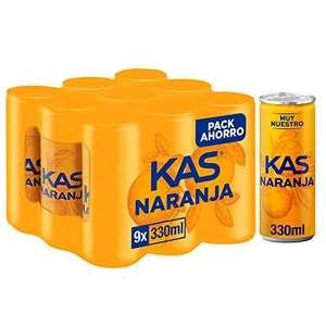 Kas Naranja Bebida Refrescante, Pack de 9 x 33cl