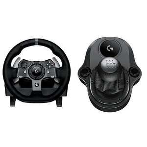 Logitech G G920 Volante y Pedales de Carrera, Force Feedback, para Xbox One, PC y MAC y Palanca de Cambio