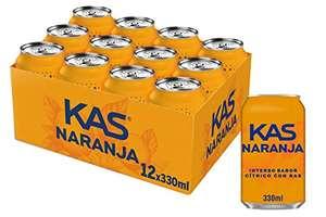 A 0,36 la lata . Pack 36 Kas Naranja - Bebida refrescante de zumo de fruta, lata 330 ml