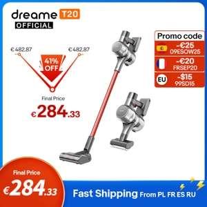 Dreame-aspiradora inalámbrica de mano T20, aspirador inteligente , 25kPa - Desde España