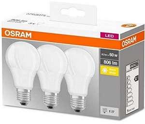 3 lámparas LED E27 de 8,5 Vatios Osram Base Classic A - Precio mínimo