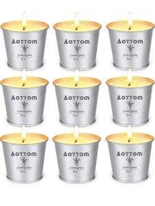 Pack de 9 velas de citronella