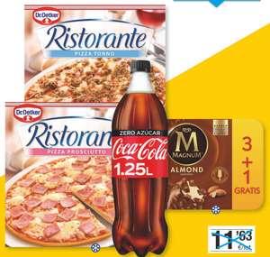 Lote cena romántica Bonpreu: pizza, helado, refresco