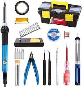 Kit soldador de estaño con 21 accesorios