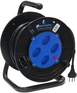 Carrete de cable con enrollacable, 15 mt (Otro Descripción)
