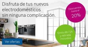 -20% en electrodomésticos -5% adicional por registro