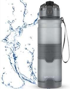 Botella de Agua Deportiva 1000ml BPA BPS con Tapa Abatible a Prueba de Fugas