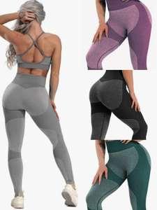 Mallas deportivas de cintura alta por menos de 6€. Varios colores, tallas S, M y L
