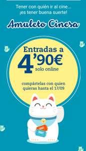 Entradas de cine x 4,90€ (socios Club Cinesa, máximo 30 usos)