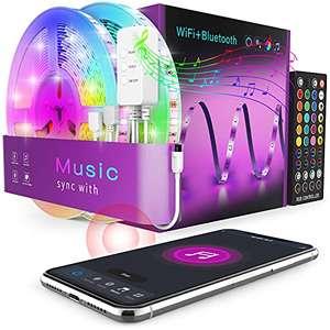 WiFi Tira LED 20M. Función Micrófono y Sincronización Música (solo clientes Prime)