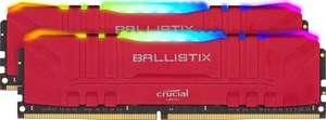 Crucial Ballistix BL2K16G32C16U4RL RGB, 3200 MHz, DDR4, DRAM, 32GB (16GBx2), CL16, Rojo