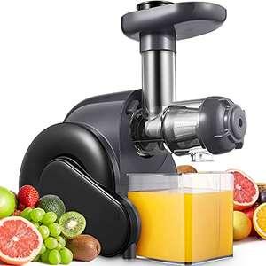 Licuadora Prensado en Frio, Licuadora para Verduras y Frutas 150W, 50~110Rpm con Función Inversa, Sin BPA, Motor Silencioso