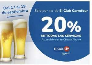 20% acumulación en todas las cervezas