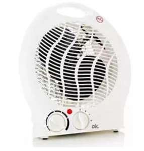 Calefactor - OK OFH 4110 ES FAN HEATER VERT, 2000W, 2 niveles, asa de transporte