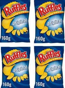 [Pack de 4 x 160gr] Ruffles Original Patatas Fritas con Sal