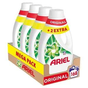 Ariel Detergente Lavadora Líquido, 168 Lavados (Pack 4 x 42)