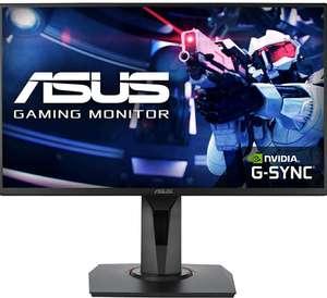 """Monitor ASUS VG258QR 24,5"""" FHD (1920 x 1080), 0.5 ms, hasta 165 Hz, DP, HDMI, DVI-D, bisel súper estrecho, FreeSync"""