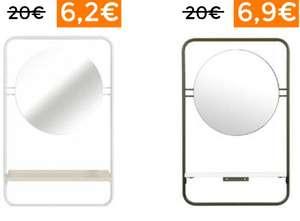 Estante para baño con espejo desde 6,2€