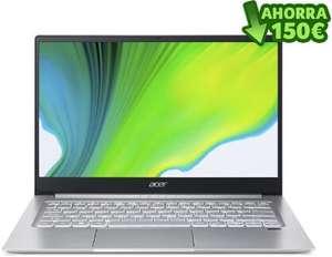 "Portátil Ultrafino Acer Swift 3 (14"" FullHD IPS, Ryzen 7 4700U, 8GB + 512GB, Windows 10)"