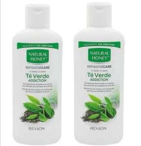 (2 Unidades x 650ml) Natural Honey gel de ducha té verde addition