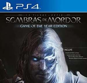 PS4 La Tierra Media: Sombras De Mordor - Game Of The Year Edition